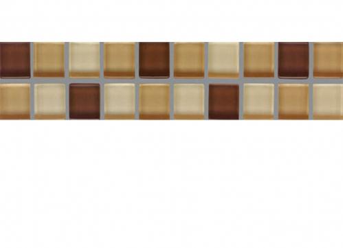 Villeroy & Boch Smart Bordüre braun-beige glänzend 5x25 cm