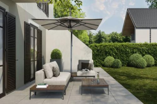 Terrassenplatten Villeroy & Boch Memphis Outdoor 2891 MT06 MS. silver grey 80x80x2 cm Betonoptik matt