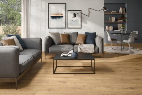Bodenfliesen Villeroy & Boch Oak Side 2793 HE20 MS. terra 30x120 cm Holzoptik matt R10
