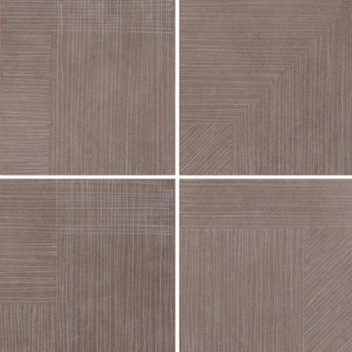 Steuler Thinsation Dekorationsset 4-teilig jeweils 30x30 cm ,,Linea´´ taupe 60x60 cm