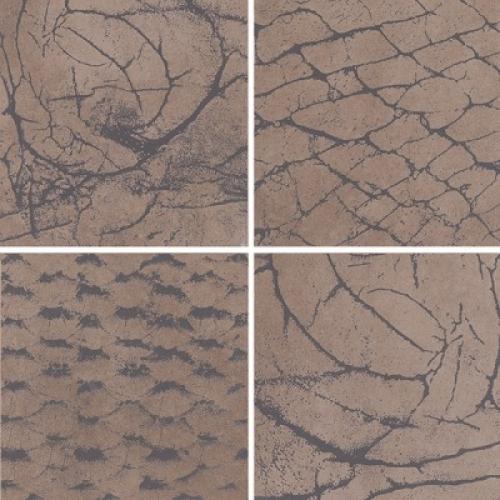 Steuler Thinsation Dekorationsset 4-teilig jeweils 30x30 cm ,,Zoom´´ taupe 60x60 cm