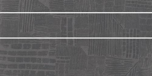 Steuler Cardiff Dekorset asphalt matt 3-teilig 37.5x75 cm