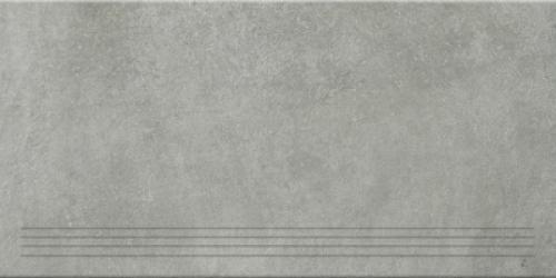 Steuler Terre Treppenfliese grigio matt 37.5x75 cm