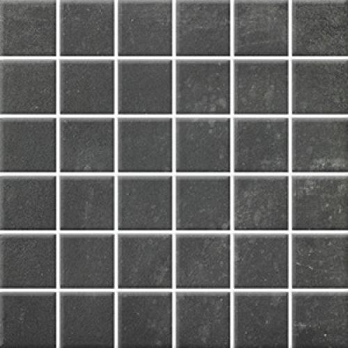 Steuler Terre Mosaik nero matt 30x30 cm