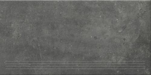 Steuler Terre Treppenfliese nero matt 37.5x75 cm