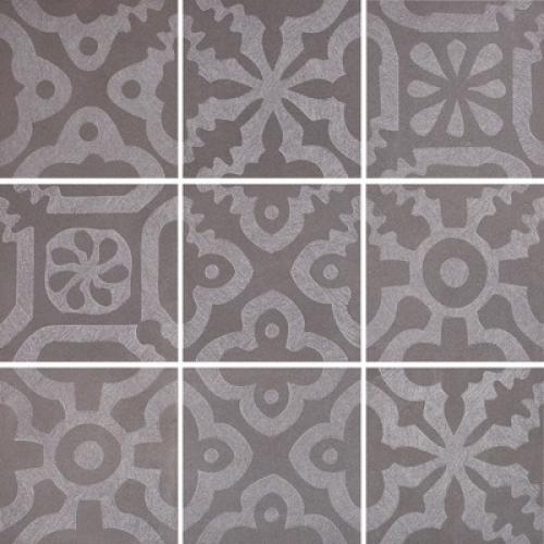 Steuler Campus Dekorationsset ,,Domo´´ anthrazit matt 9-teilig 75x75 cm