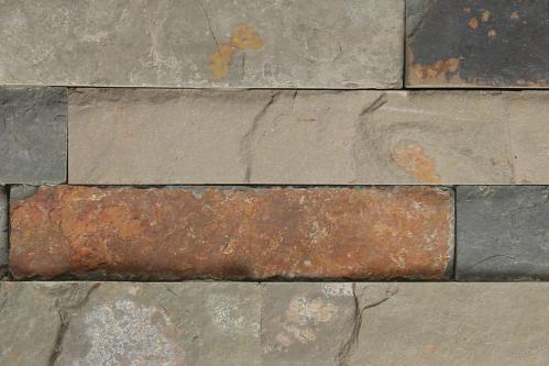 Brickstone 15x60cm multicolour matt Naturstein Wandverblender