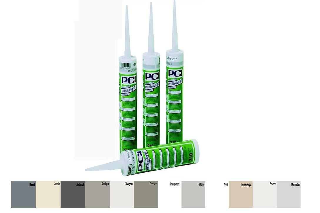 PCI Silcofug E Silikon Sanitär Kartusche Dichtstoff 310 ml